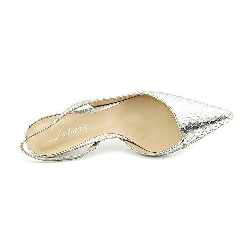 Delman Britt Femmes Cuir Talons Silver Antique