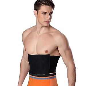 Anguang Herren Stretch Atmungsaktiv Körperformer Taillen Korsett Gürtel Sport