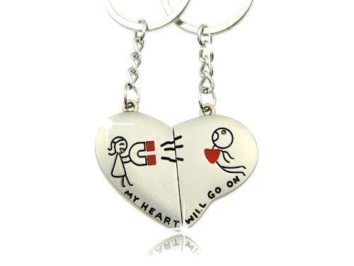 *Schlüsselanhänger für Paare – My heart will go on*