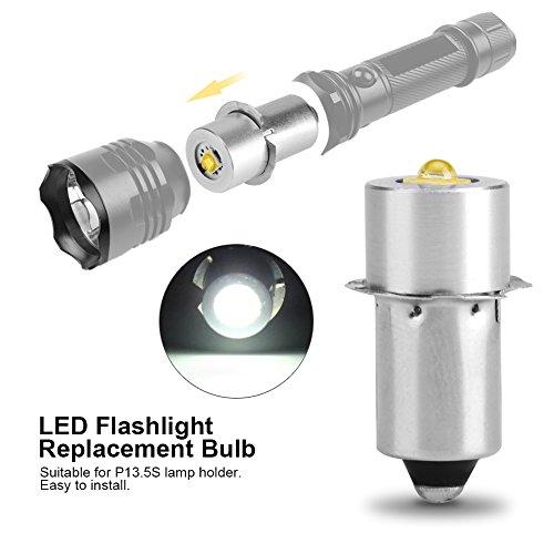 Delaman P13.5s LED Brine LED-Ersatzbirne 3W für Taschenlampen Hohe qualität Super hell Gleichstrombetrieb (Size : White 4~12V) -