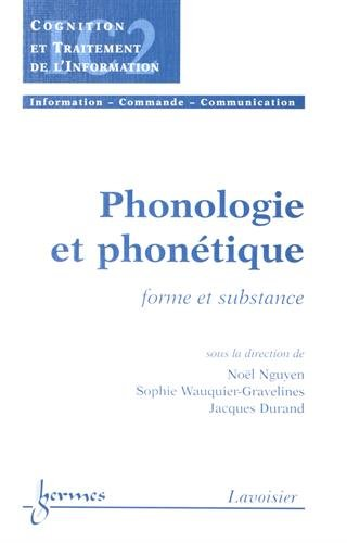 Phonologie et phonétique : Forme et substance