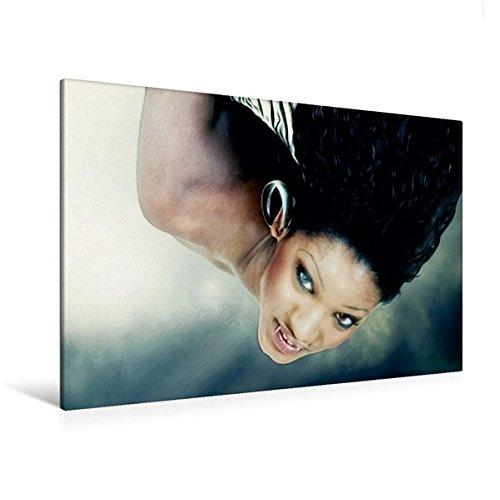 Calvendo Premium Textil-Leinwand 120 cm x 80 cm Quer, Ein Motiv aus Dem Kalender Legende Vampire | Wandbild, Bild auf Keilrahmen, Fertigbild auf Echter Von Oben auftauchend Menschen Menschen
