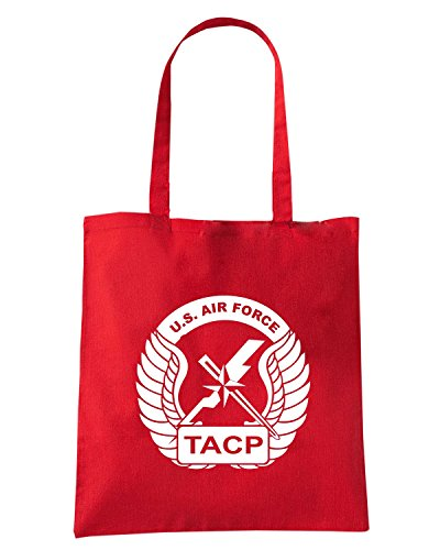 T-Shirtshock - Borsa Shopping T0130 AIR FORCE TACP militari Rosso