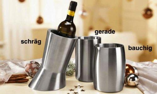 ERNESTO Flaschenkühler, Edelstahl matt gebürstet (gerade)