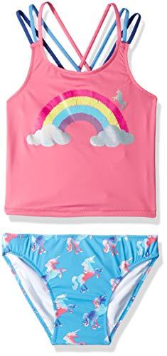 Sporty Tankini Sets, (Multicoloured Rainbow Unicorns), (Herstellergröße: 10 Jahre)