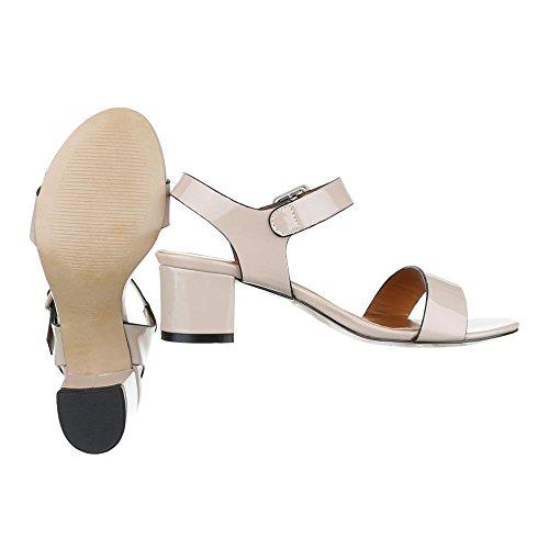Ital-Design , Sandales pour femme Beige