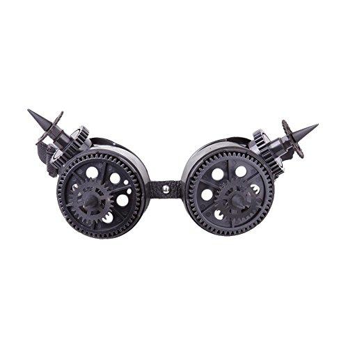 """SERBRILLE"""" Goggles with Spikes und Zahnrädern Cosplay Schutzbrille Viktorianisch Cyber Fliegerbrille Gotischer Stil Sunglasses viele Modelle (87363-9003-00000) (Silvester Sonnenbrille)"""
