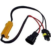 RH10 - free Error LED Load Resistenze resistore Decoder Cablaggio adattatore canceller d'avvertimento per lampade a bulbo LED con H10 Socket