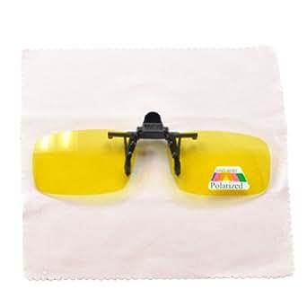 Lunettes À Clipser Pour Vision Conduite Nocturne Protection UV Pour Reflets Phares Neige