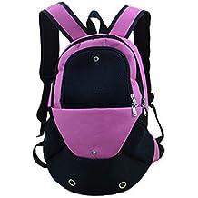 YOUJIA Perro Mochila Ajustable bolso de Pecho portátil Frente Transpirable para Pequeña mascota / Cuadrícula Rose