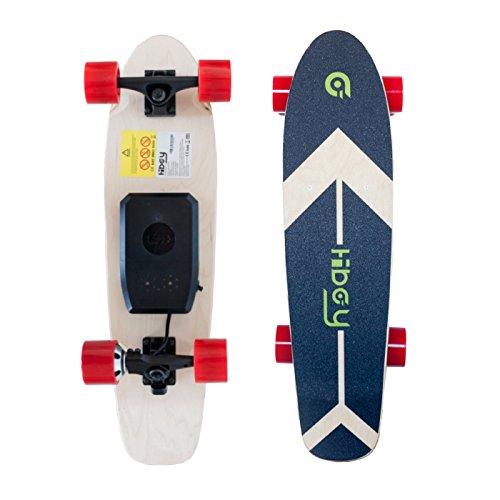 Foto de Hiboy - Mini Skateboard Eléctrico de 4 Ruedas con Motor Inteligente Skateboards [7 capas Tablero de Bambú] y Control Remoto Inalámbrico – 3.6 kg para Portátil Skate Board para Pasajero, Niños y Adultos – Modelo S11