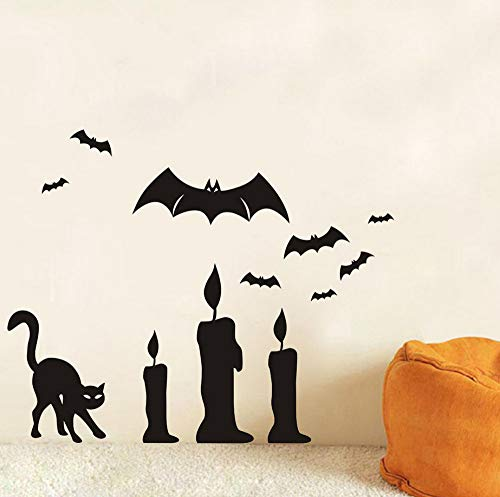 Sgbfz Tier Tapete Happy Halloween Hintergrund Wandaufkleber Fenster Home Decoration Aufkleber Dekor