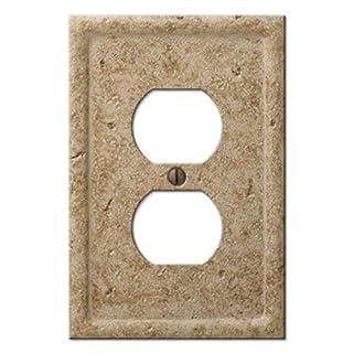 Amertac 8351DNC 1 Duplex Texture Stone Noce Wallplate by AmerTac