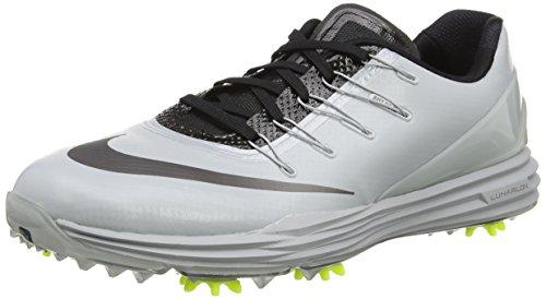 Nike Herren Lunar Control 4 Golfschuhe, Grau (Wolf Grey/Metallic Dark Grey/Black/Volt), 43 EU