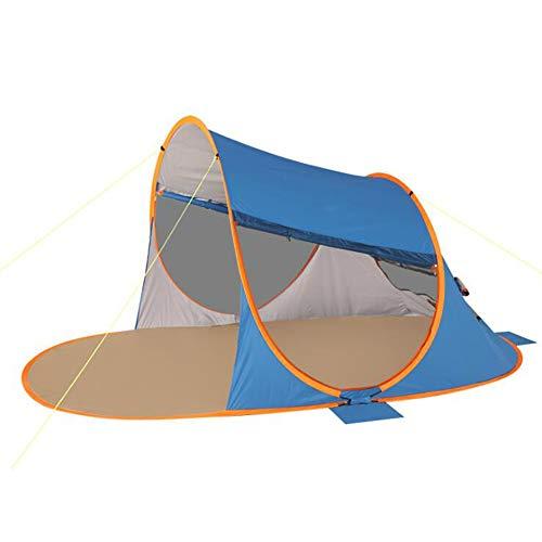 BZR-MY Al Aire Libre 3-4 Personas Velocidad automática Abrir Protector Solar a Prueba de Lluvia Tienda de una Sola Capa,Orange Artículos educativos