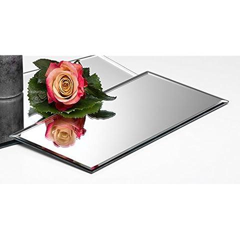 Vetro specchio blaha Mirror quadrato di Sandra Rich, Vetro, 0, 0,5 cm hoch Durchmesser 30,0 x 15,0 cm