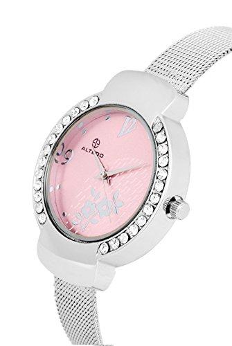 Altedo Eternal Series Pink Dial Women's Watch - 694PDAL