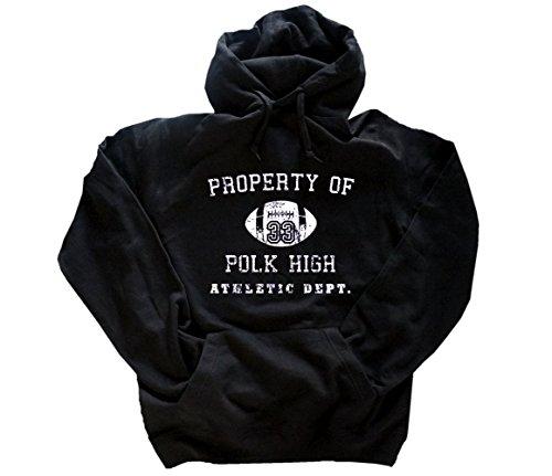Shirtzshop Movie TOPTEN 10 Property of Polk HIGH - Athletic DEPT Kapuzen-Sweatshirt - Hoody Schwarz XXXL Athletic Dept Sweatshirt