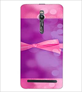 PrintDhaba Ribbon D-4955 Back Case Cover for ASUS ZENFONE 2 (Multi-Coloured)