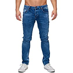 Elara Jeans de Hombre | Pantalones Slim fit Denim | Estirar Estilo | Chunkyrayan 16533-Blau-30W / 30L
