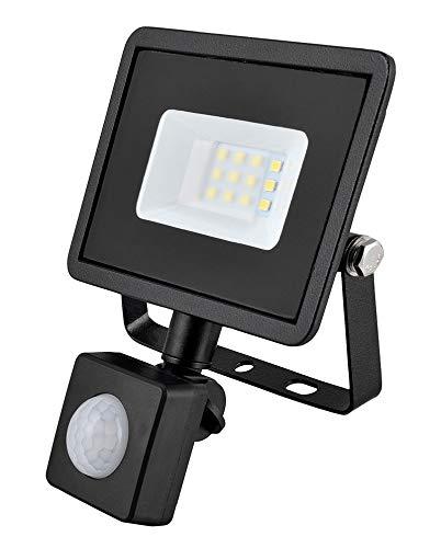 10w LED Flutlicht/Floodlight/Scheinwerfer 4000k - Schwarz mit Bewegungsmelder (Eveready s13948) -