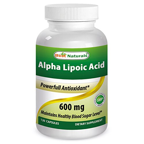 Best Naturals Alpha Liopic Acid 600 mg 120 Capsules - ALA Alpha Lipoic Acid Powerful Antioxidant Test