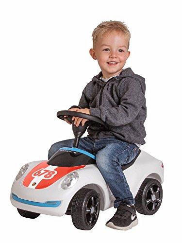 BIG Spielwarenfabrik 800056348 - Baby-Porsche Premium, Rutschfahrzeug, weiß - 3