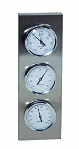 Weathereye WEA26 Thermomètre/Hygromètre/Baromètre en acier inoxydable