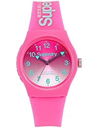 Superdry Women's Analogue Quartz Watch with Silicone Strap – SYL198PN