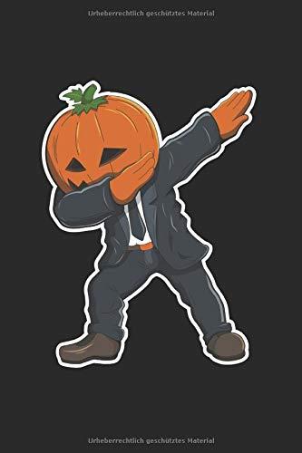 Notizbuch: Halloween Kürbis Dabbing Notebook A5 liniert I Trick or Treat Geschenk I Grusel Tagebuch oder Journal