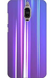 AMEZ designer printed 3d premium high quality back case cover for Huawei Mate 9 Pro (abstract purple shades)