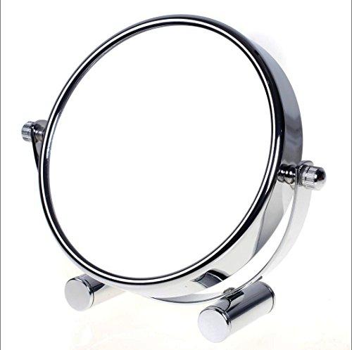 TUKA Designed Kosmetikspiegel 10 Fach, 6 inch Tischspiegel 360° drehbar, Standspiegel...