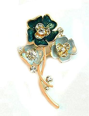 Gnzoe Jewelry, Womens Brooch Rhinestone Flowers Shape Flower Brooch Vivid