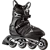 K2 Herren Inline Skates Fit 80, ABEC 5 Kugellager 80mm Rollen 80A Softboot, Schwarz 30A0003.1.1