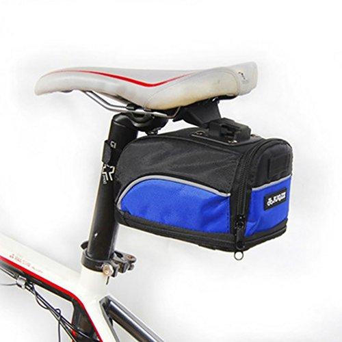 YiJee Borsa da Sellino per Bici Bicicletta con Strisce Riflettenti Impermeabile Nero Blu