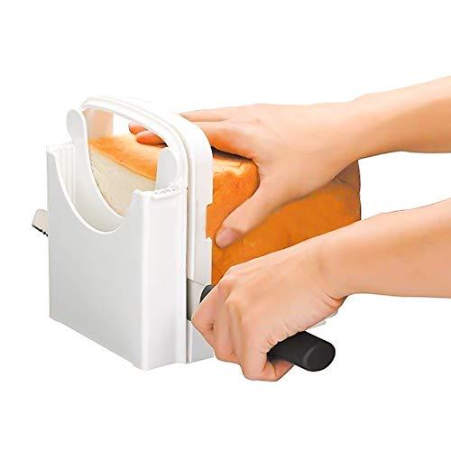 Konesly Brot Laib Slicer Roast Schneideanleitung Bagel Cutter Form Sandwich Maker Toast Slicing Maschine Dicke Einstellbar Roast Slicer