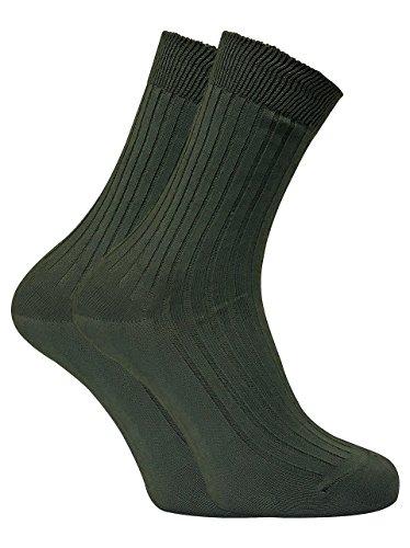 Dr Hunter - 2 paires homme chaussettes vertes bio 100 coton pour randonnée (39-41 eur, DHB)