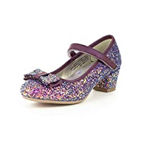 Lilley Sparkle Girls Purple Glitter Party Shoe
