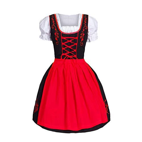 WEIMEITE Mittelalterliches Kostüm für Frauen Royal Maid Dress Bier Mädchen Weibliche Vintage Victorian Maid Cosplay Kleider