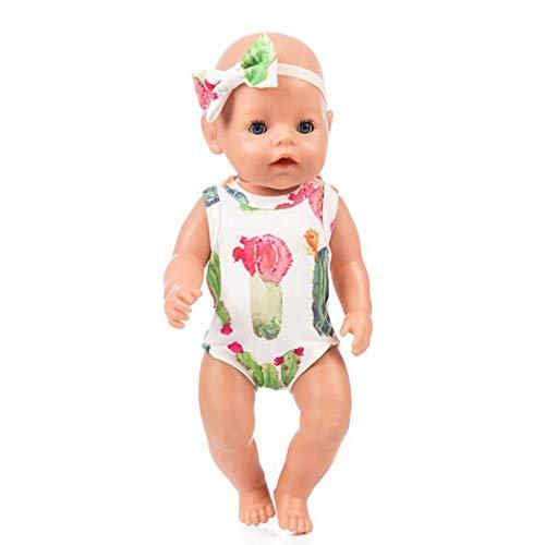 Zolimx Puppe Baby Verbundene Kleidung Gap Kleidung Anzug für 18 Zoll American Puppen Zubehör Mädchen ()