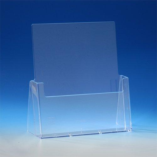 TAYMAR® DIN A4 Prospekthalter / Prospektständer, Transparent (C230 / LA-330)
