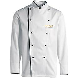 Simogas V01 - Chaquetilla de chef, color blanco
