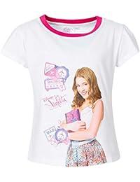 Violetta - Tee shirt Disney Violetta blanc taille de 4 à 8 ans - 4 ans,6 ans,8 ans,10 ans,12 ans