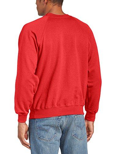 Fruit of the Loom Herren, Sweatshirt, Raglan Sweatshirt Rot - Rot