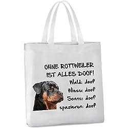 AdriLeo Einkaufstasche Ohne Rottweiler ist Alles doof!