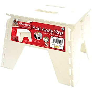 Kingfisher FSTOOL Fold Away Compact Step Stool - White  sc 1 st  Amazon UK : compact step stool - islam-shia.org