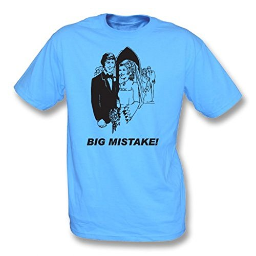 TshirtGrill Großes Fehler-T-Shirt, Farbe- Blau