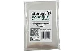 Storage.boutique, Buste di protezione per cartoline, senza acidi, trasparenti, resistenti ai graffi, leggere, Classic