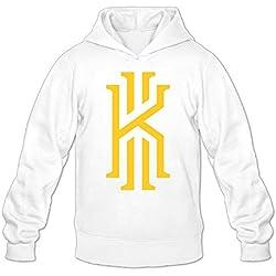 YQUE Sudadera para hombre, con capucha, para jugador de baloncesto, diseño de número 2, color negro - Blanco - S