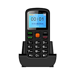 Big Button Easy to use Senior Citizen Mobile Phone for the elderly - Sim-Free, Torch function - SOS button and large easy to read display includes Charging Cradle